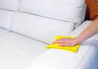 cleaning a sofa